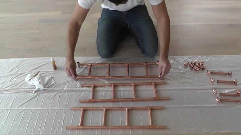 DIY Bastelidee mit Kupferrohre-mehrere Leitern bauen