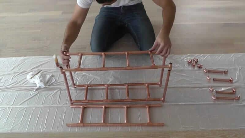 DIY Bastelidee mit Kupferrohre-die Leitern zusammenbauen