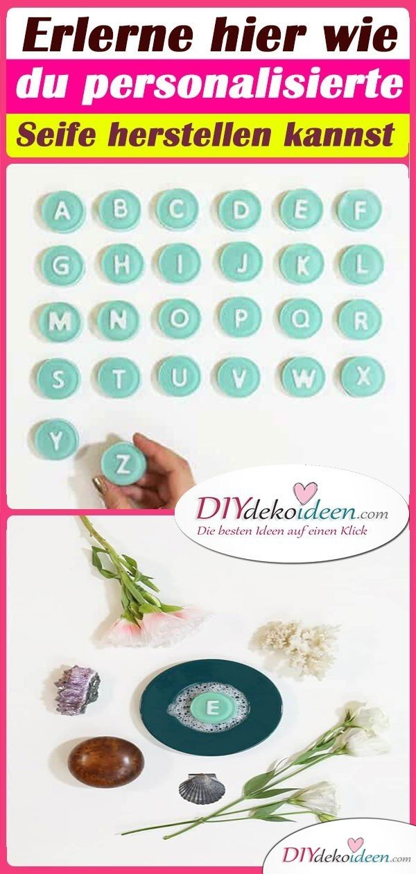 Erlerne hier wie du personalisierte Seife herstellen kannst