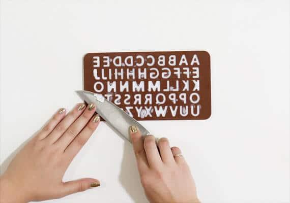 Buchstaben selber machen für Naturkosmetik