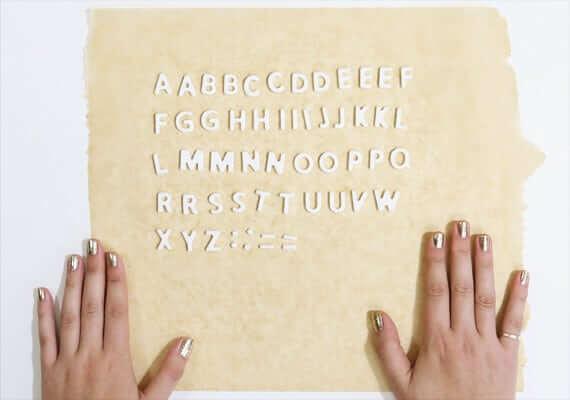 Fertige Buchstaben aus Seife
