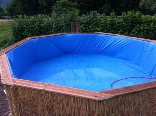selbst gemachter Pool - Garten-Party Ideen