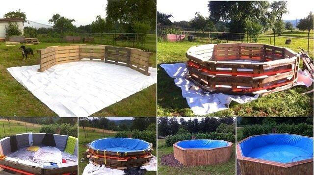 Bauanleitung für einen Gartenpool