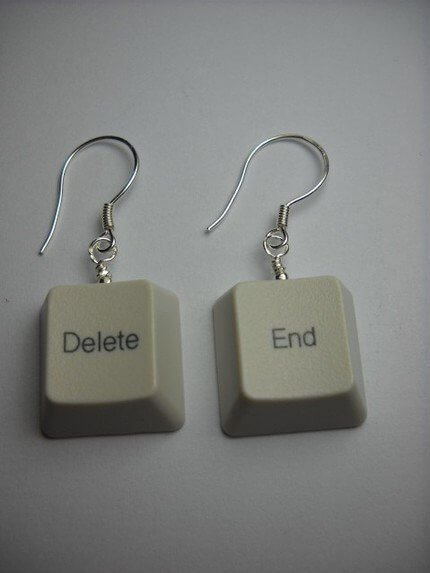 Ohrringe selber machen - Tastatur-Bastelideen