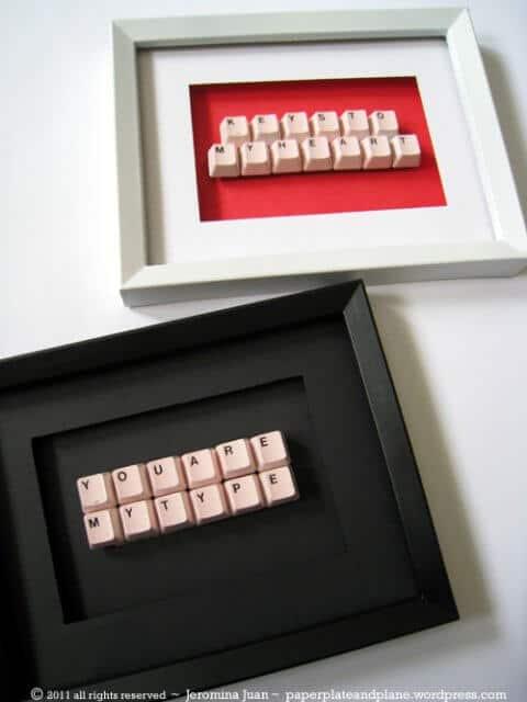DIY Wanddeko aus einer Tastatur kreieren