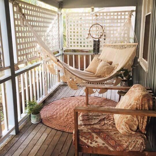 Hängematte auf der Terrasse - DIY Deko Ideen