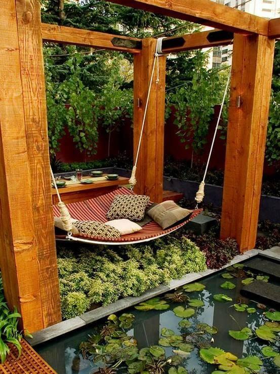 Hängematte im Garten - Wohlfühlecke gestalten