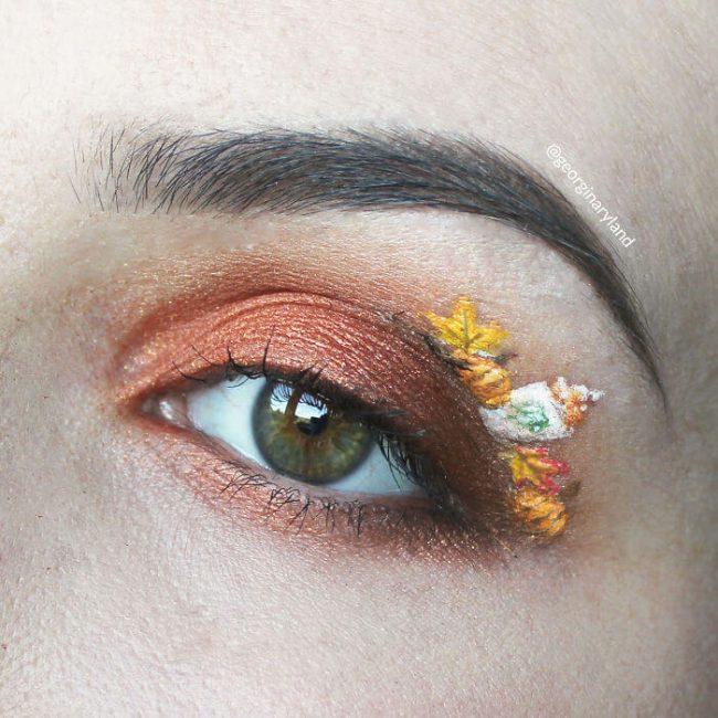 Herbst Augen-Makeup