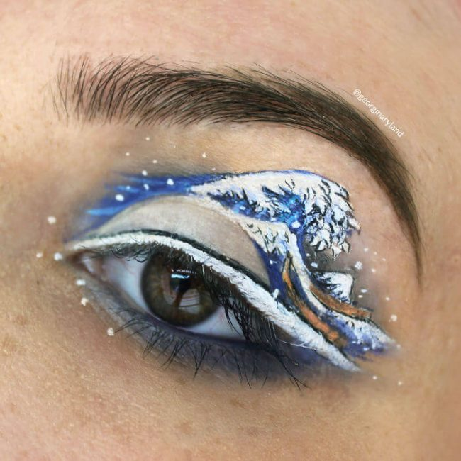 großes Wellen-Makeup - Augenlid kreativ Schminken