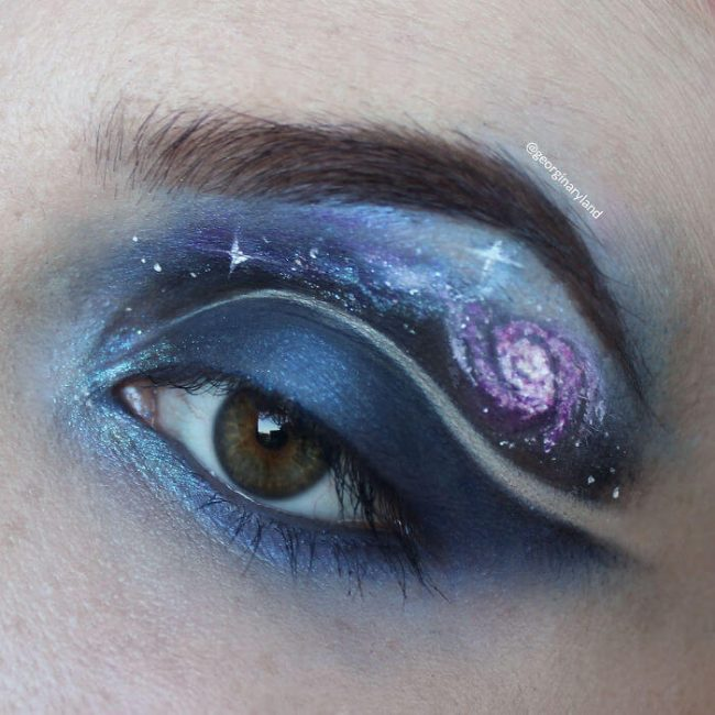 aussergewöhnliche Schminke - Sternenhimmel