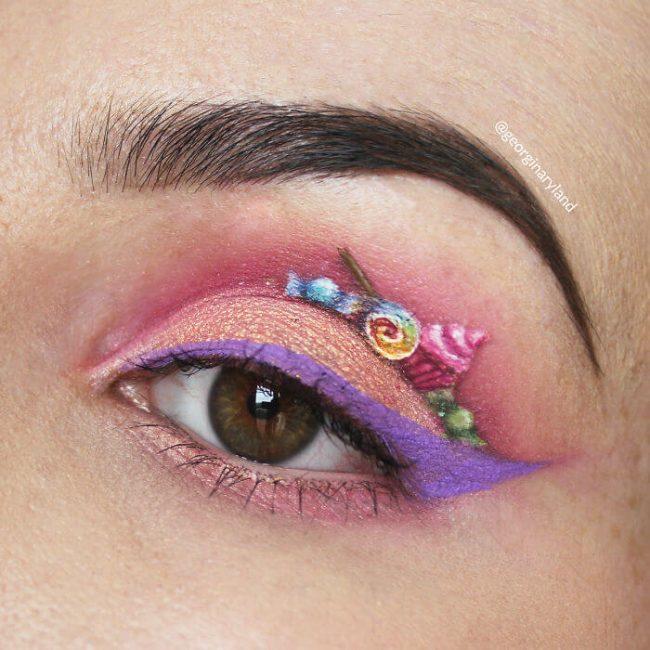 Candy Augenlid-Make-Up - Süßigkeiten
