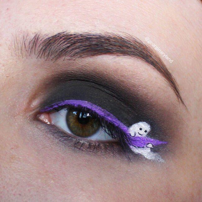 Geist Augenlied schminken - Halloween Make-Up