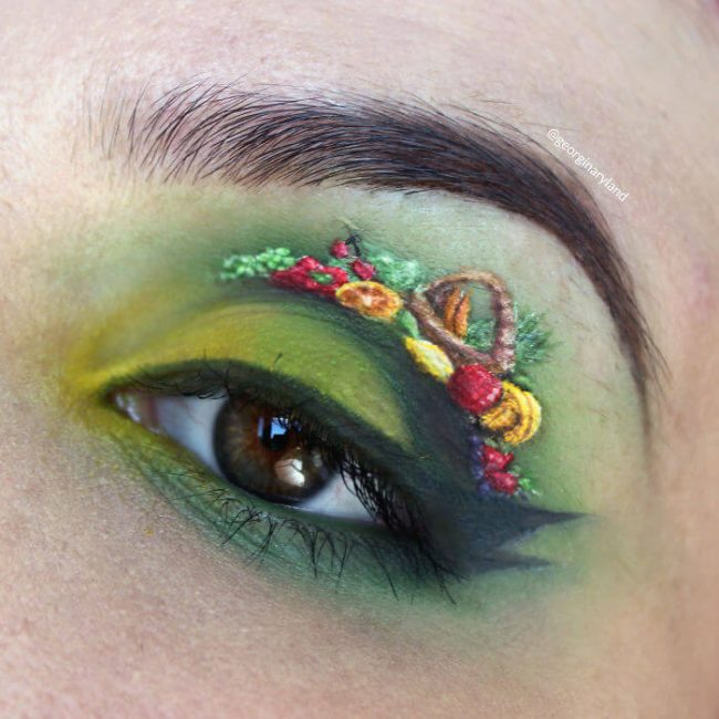 Obst Makeup Augenlied