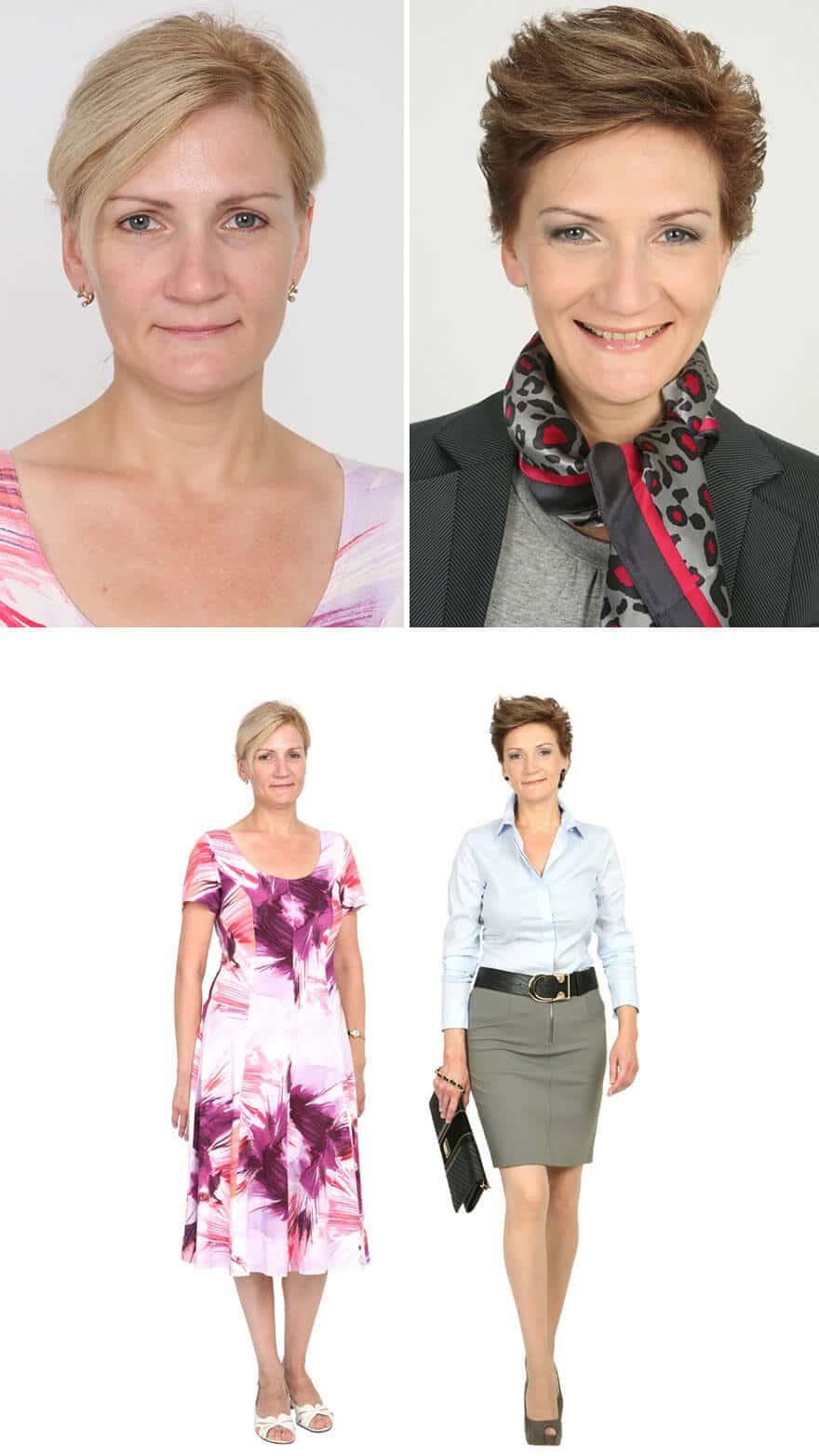 Make-up Trends und neues Outfit - Braune Haartrends - Kurzhaarfrisur