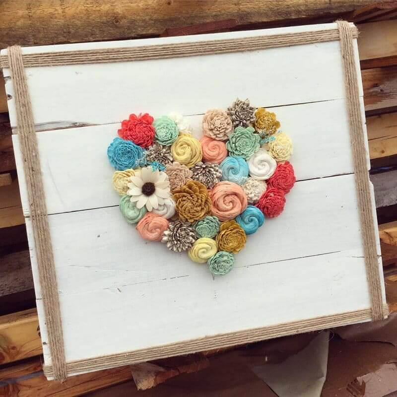 rustikale Deko-Ideen mit Blumen - Leinwand selber machen