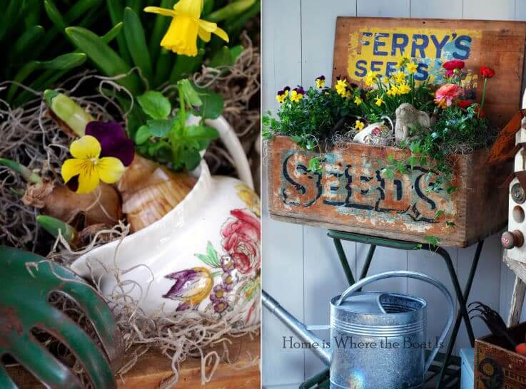 DIY Dekoidee-Übertöpfe gestalten-Gartendeko selber machen