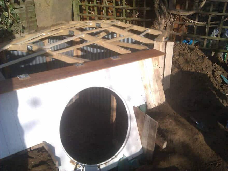 Hobbit Haus im Garten bauen - Gartendeko