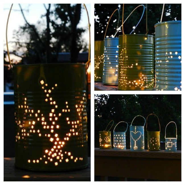 DIY Garten-Deko-Ideen - Gartenbeleuchtung mit Laternen