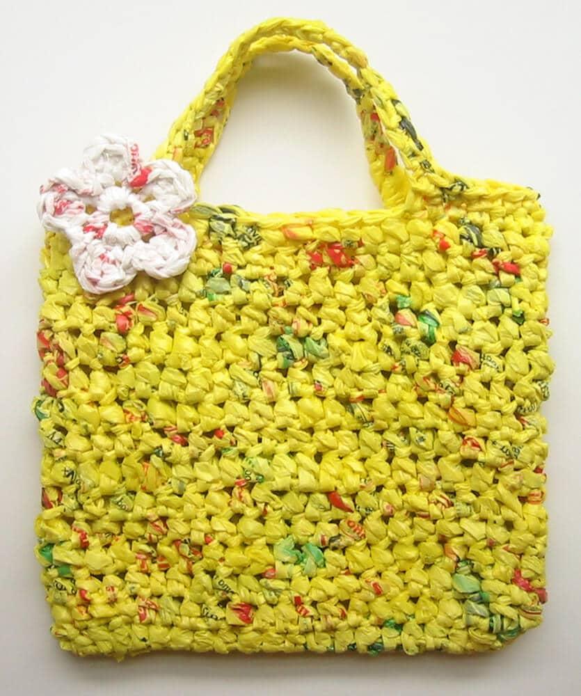 DIY Einkaufstasche aus Plastiktüten zum Selbermachen