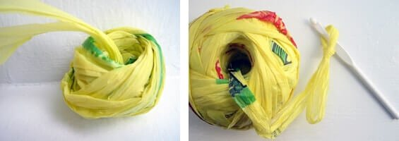 DIY Bastelideen aus Plastiktüten