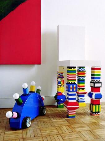 Stühle mit Lego verschönern-DIY Wohndeko Ideen