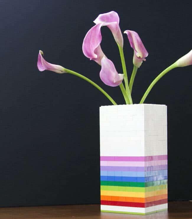 LEGO Bastelideen - DIY Wohndeko mit Legosteinen - Vase selber machen