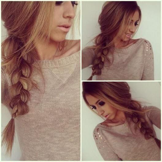 Wunderschöne Flechtfrisur-Zopf flechten-Haartrend für langes Haar