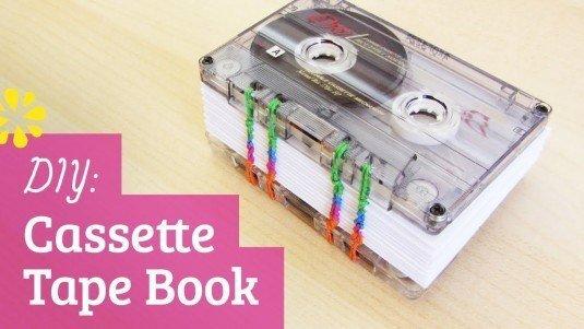 Buch aus alten Kassetten basteln - DIY kreative Geschenkidee