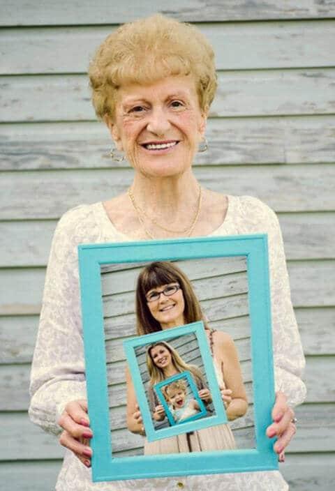 Geschenkideen für Omas - Foto mit Generationen