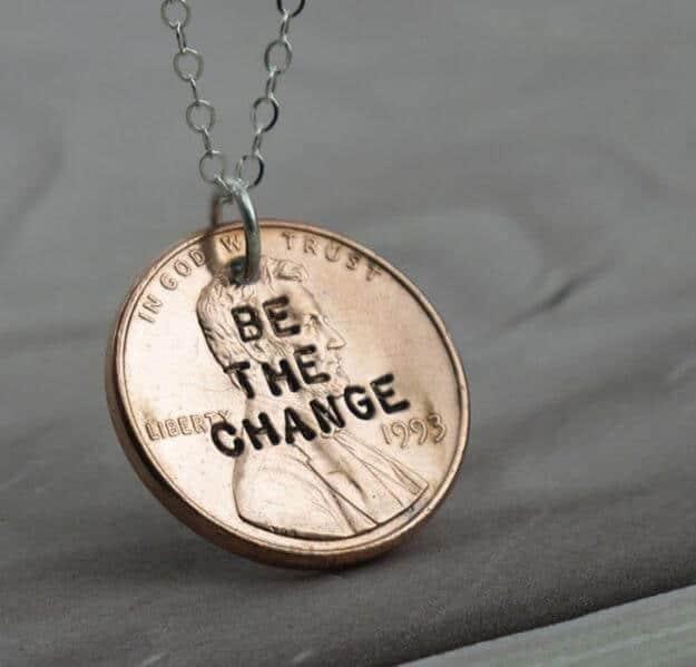 DIY Bastelideen mit Münzen - Ketten-Anhänger selber machen
