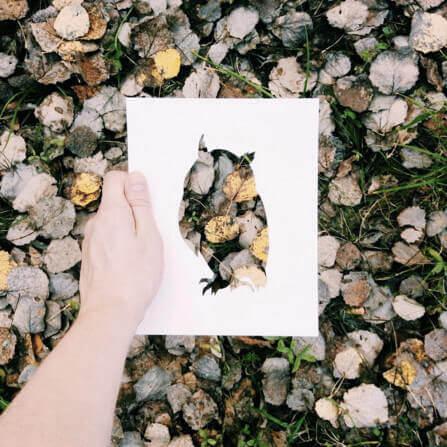 kreative Kunst Bilder - DIY Projekte mit Natur