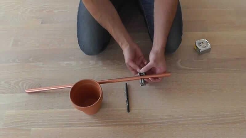 DIY Bastelidee mit Kupferrohre-erstens abmessen