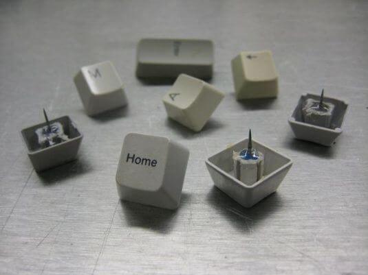 Pinnadeln aus Tastaturen basteln - DIY Projekte