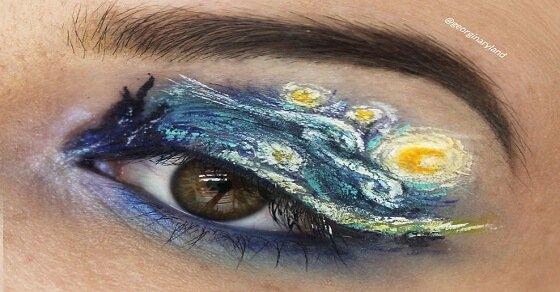 Makeup für Ameisen: Sie schafft winzige Gemälde auf ihre Augenlider