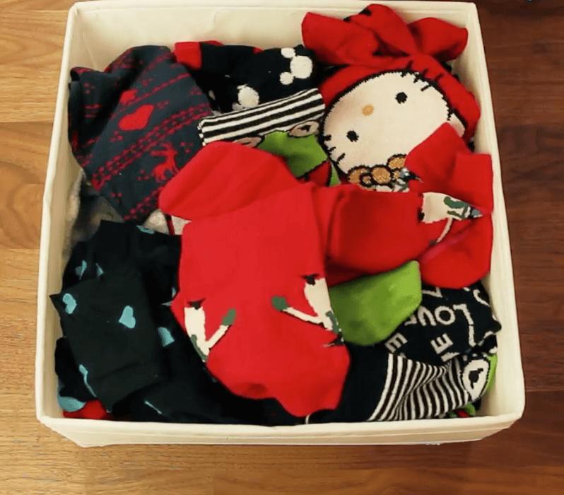 Socken organisieren - Falttechnik