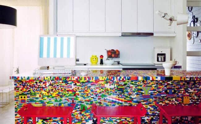 DIY Wohndeko Ideen mit Lego - Küchentheke selber machen