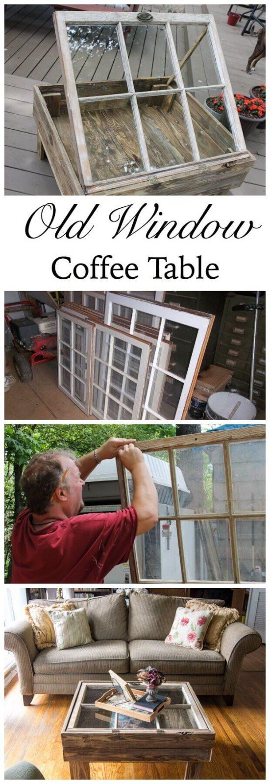 Kaffeetisch aus einem Fenster basteln