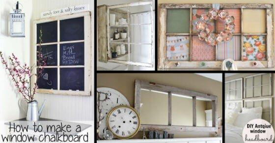 10+ Deko Ideen mit alten Fenstern, die du unbedingt sehen musst