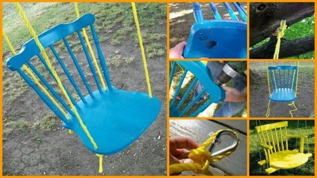 Alte Stühle wiederverwenden - tolle Gartenschaukel selber machen