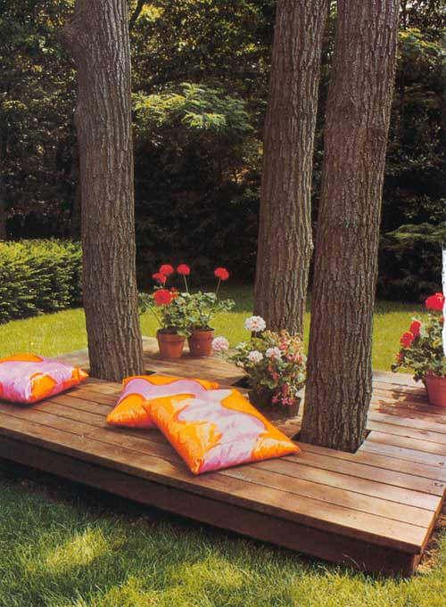 Relax Lounge im Garten gestalten
