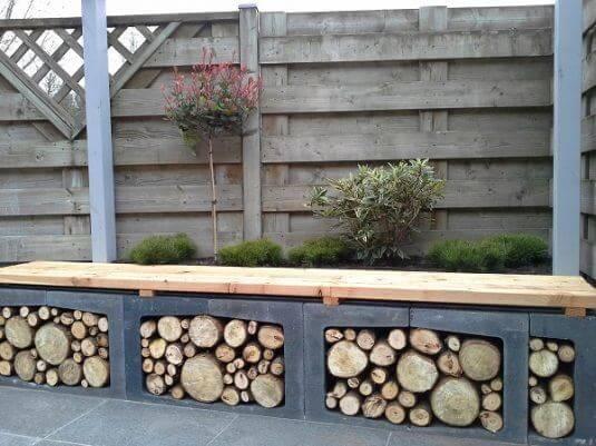 dekorative Gartenbank selber machen - Gartenmöbel-Ideen