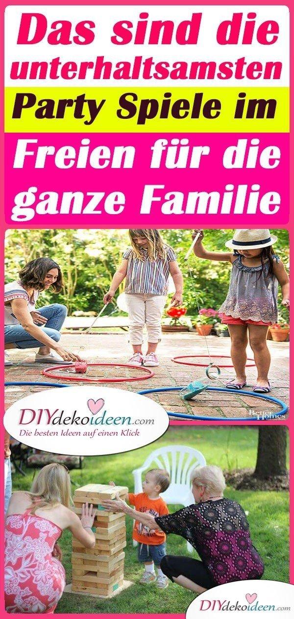 Das sind die unterhaltsamsten Party Spiele im Freien für die ganze Familie