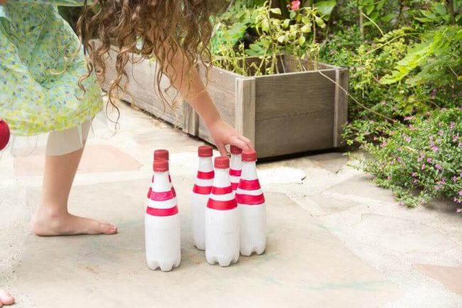DIY Bowling - Spielzubehör selber machen
