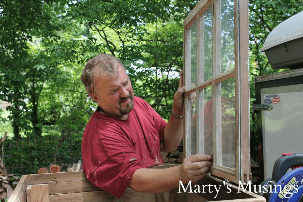 DIY Bastelideen - Fenster wiederverwenden