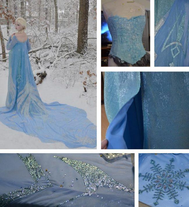 Eiskönigin Elsa selbst gemachtes DIY Kleid