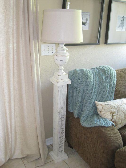 Stehlampe basteln - selbst gemachte Dekoration