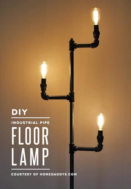 schöne Lampe - Wohndeko im industriellen Stil