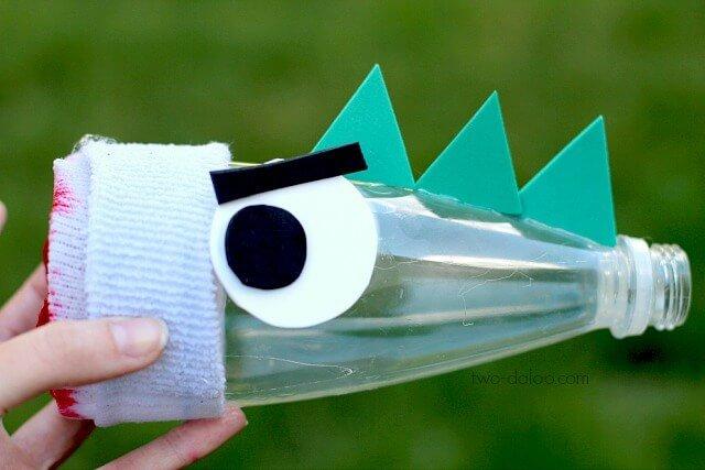 Plastikflaschen wiederverwenden - Bastelideen - Drache basteln