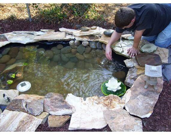 Gartenteich selber machen-Gartengestaltung-DIY Gartendekoideen