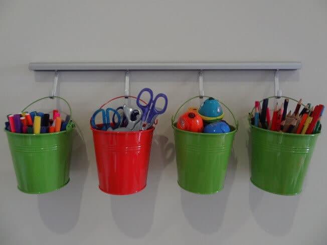 Sitfte und Bastelzubehör organisieren - Kinderzimmer Deko-Ideen